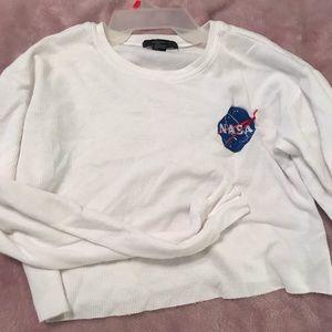 NASA Lon sleeve crop top